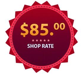 $85 service shop rate